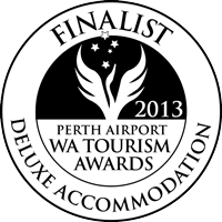 Perth Airport WA Tourism Awards Finalist logo